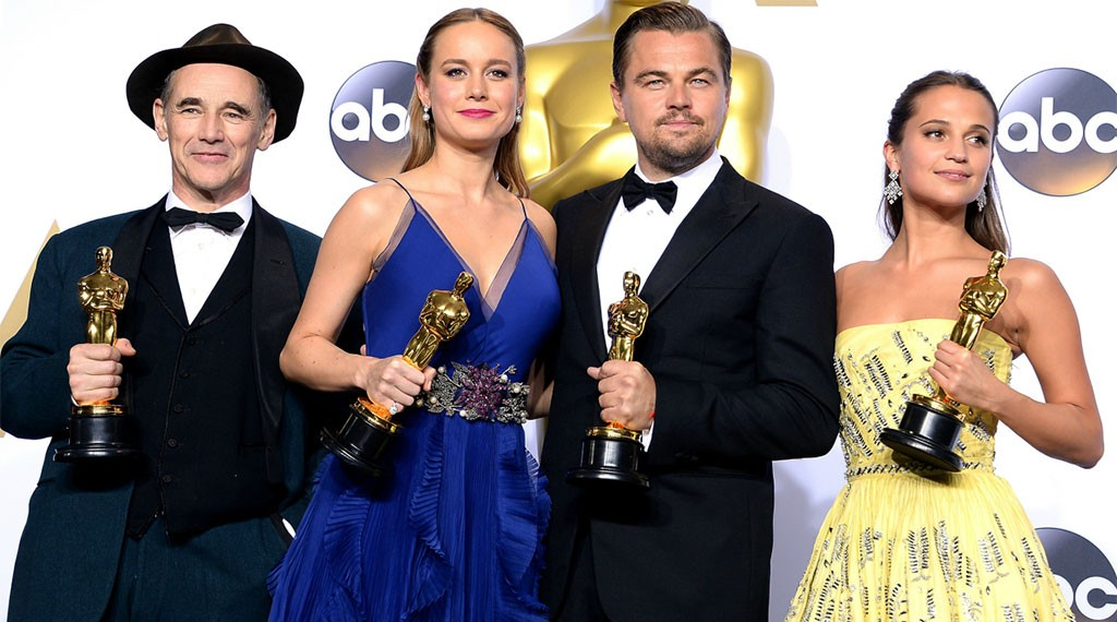 Oscar 2016 Acting Winners: Mark Rylance, Brie Larson, Leonardo DiCaprio and Alicia Vikander