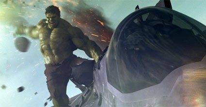 Hulk hitches a plane ride