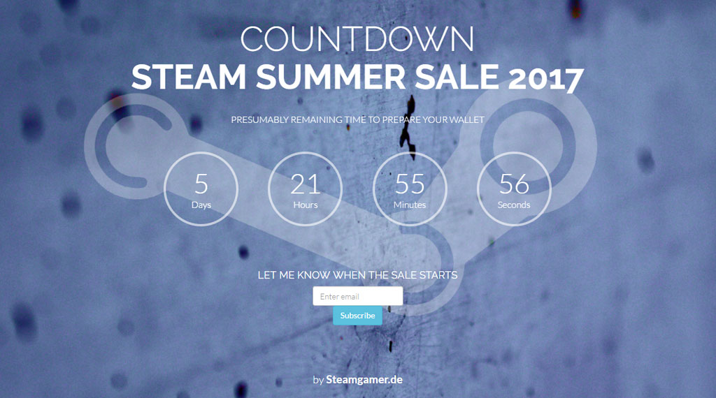 Steam Summer Sale Countdown by Steamgamer.de