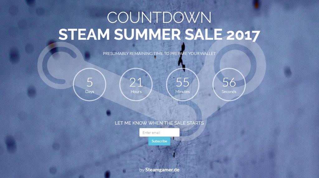 steam summer sale 2019 countdown