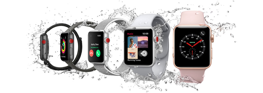 The Apple Watch Series 3, unveiled at the Apple Special Event on September 12th, 2017 (SOURCE: Apple)