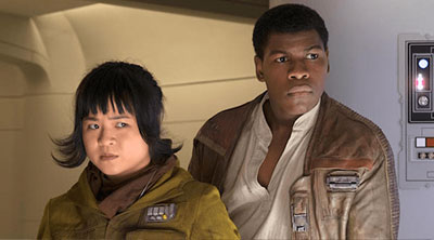 Rose (Kelly Marie Tran) and Finn (John Boyega) in 'Star Wars: The Last Jedi' (SOURCE: Lucasfilm)