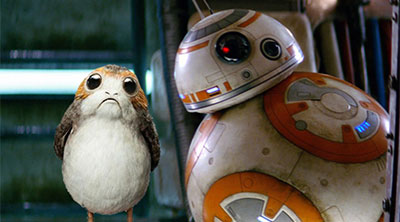 BB-8 and a Porg from 'Star Wars: The Last Jedi' (SOURCE: Lucasfilm)