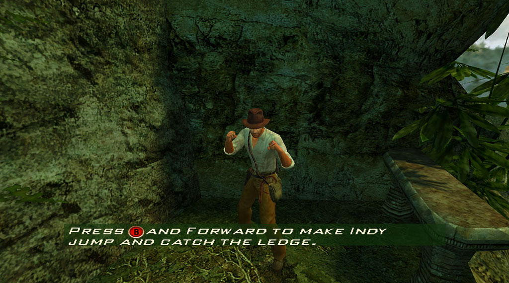 Indiana Jones and the Emperor's Tomb tutorial, with XBox 360 Controller buttons (SOURCE: LucasArts)