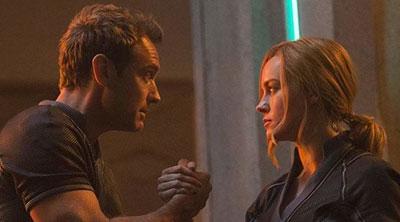 Yon-Rogg (Jude Law) and Carol Danvers (Brie Larson) in 'Captain Marvel' (SOURCE: Marvel Studios)