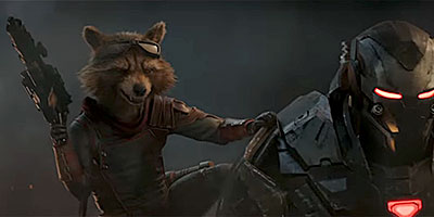 Rocket Racoon and War Machine in 'Avengers: Endgame' (SOURCE: Marvel Studios)